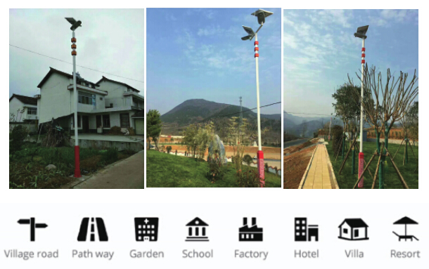 All In One Solar Powered Garden Street Lamps / Led Outdoor Area Street Lighting