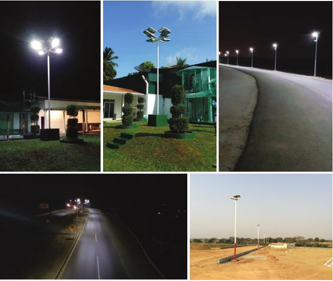 High Power Integrated Solar Street Light With 360 Degree Panel Adjustble
