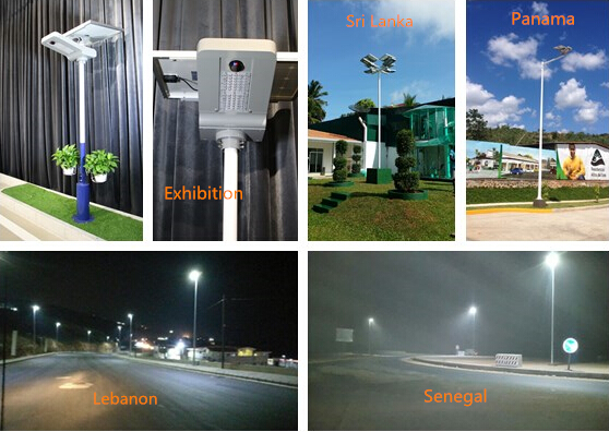 12v 30w Integrated Solar LED Street Light Panel Angle Rotating High Luminance