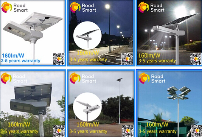 20 W IP65 Solar LED Parking Lot Lights 3000-6500K With Aluminium Alloy Material