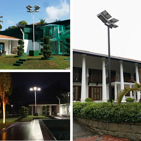 IP65 Outdoor Integrated Street Light With Adjustable Solar Panel , 30W Output