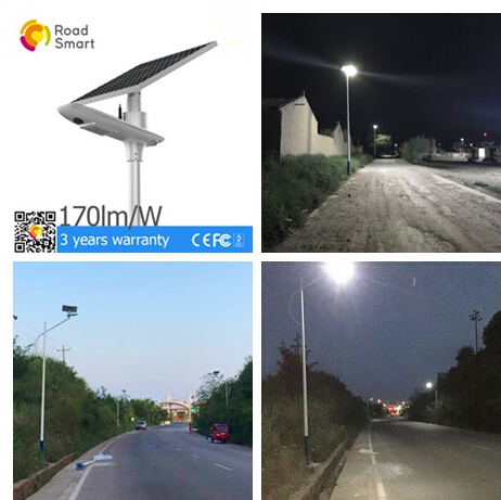 210lm/W Commercial Solar Street Lights , Solar Panel Street Lamps 1V