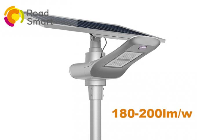Fashionable High Stability Outdoor Solar Street Lights With Panel , Aluminum Alloy Housing