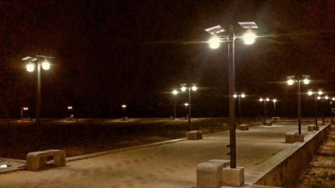 Integrated Solar LED Wall Light With Lithium Battery , 50000hrs Lifespan