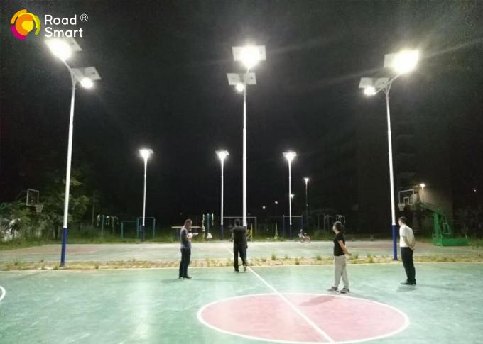 DC Power  LED Outdoor Solar Street Lights 50w 7500lm For Basketball Court