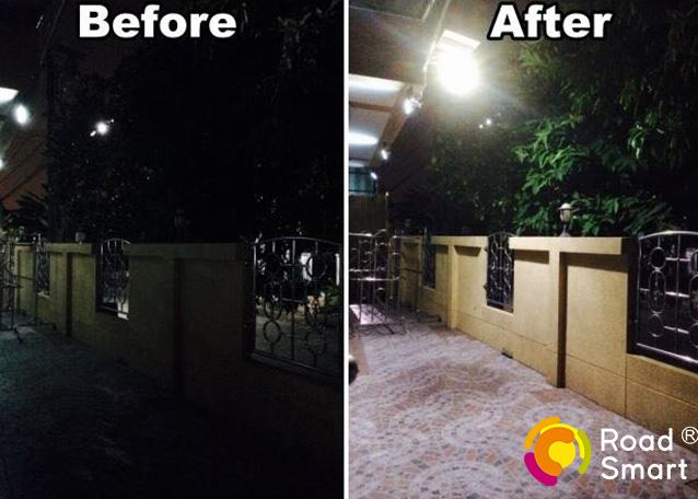 Power Control Solar LED Wall Lights Outdoor 160lm / W With 3 Years Warranty