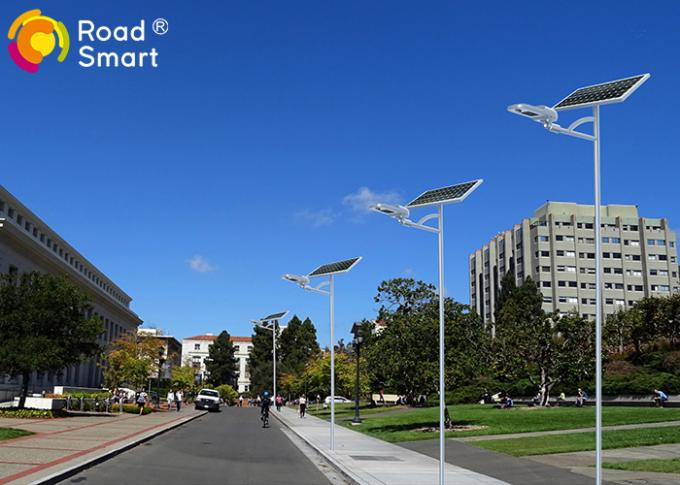 All In Two Outdoor Solar Street Lights 1700lm DC12V With Lithium Battery Built In