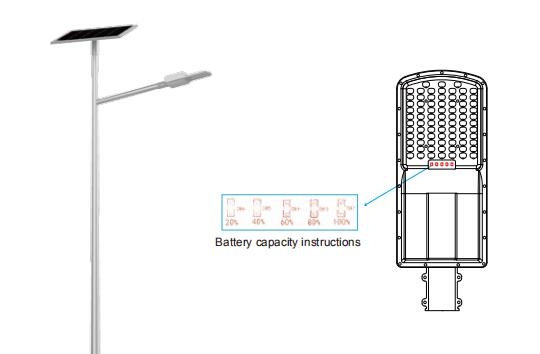 new all in two outdoor solar street lights