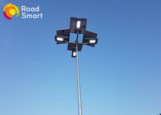 China All In One LED Solar Panel Street Lights Aluminum Alloy Cool White Color supplier