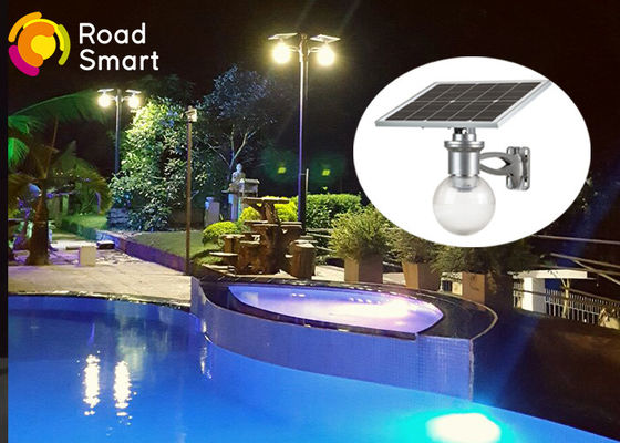 China IP 68 Waterproof Outdoor Solar Powered Pole Lights 50000 Hours Lifespan supplier