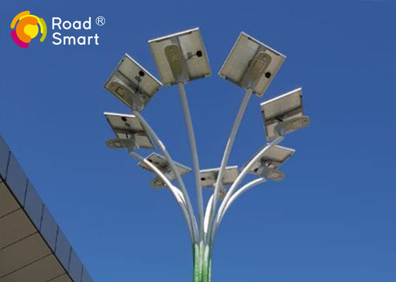 China LED Solar Powered Street Lights Remote Control 50000 Hours Working Lifetime supplier