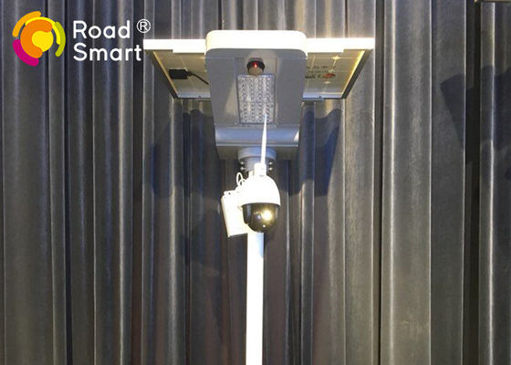 China Wifi / 4G Solar Street Light With Camera 3000 - 3500lm Luminous Flux 20w / 30w supplier