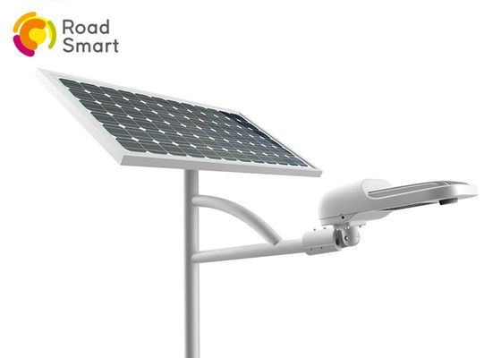China 6000lm Super Bright Solar Powered Led Pole Lights For Road Driveway Parking Lots supplier