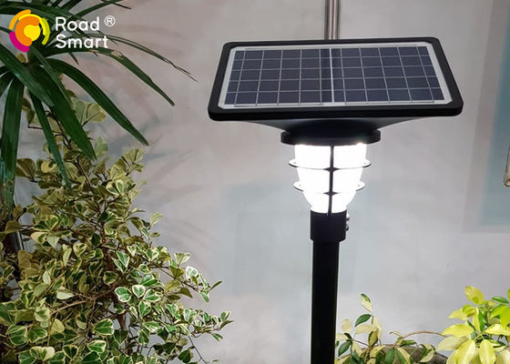 China LiFePO4 Battery Led Solar Yard Lights 210lm/w Aluminum Alloy Lamp Head For Garden supplier