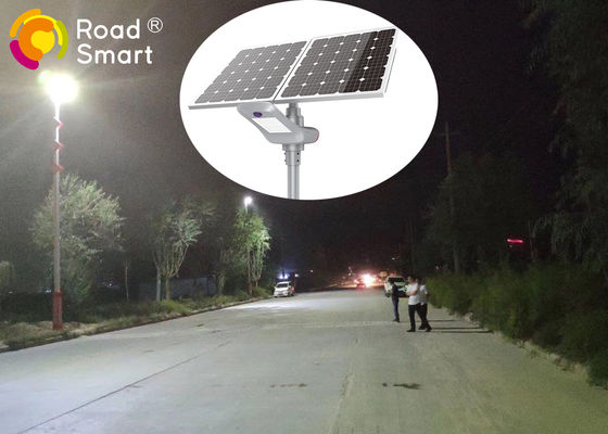China Outdoor IP65 All In One Integrated Solar Street Light Bridgelux Chip With Pole supplier