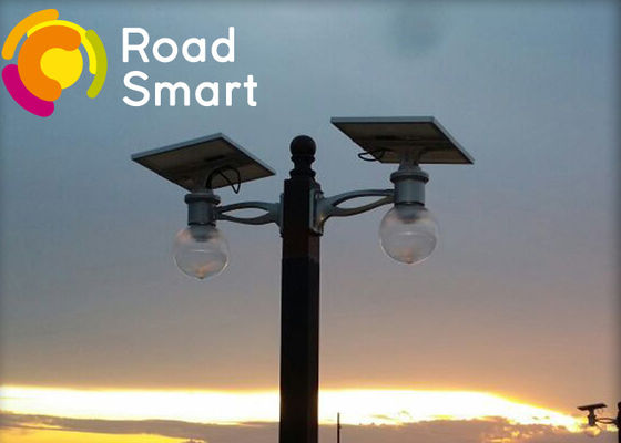 China 160lm/w Solar Powered Road Lights Double Arm Installation With Adjustable Solar Panel distributor