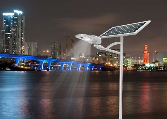 China 100W 120W Solar Powered Street Lights Outdoor Alloy Aluminum High Light Efficiency distributor