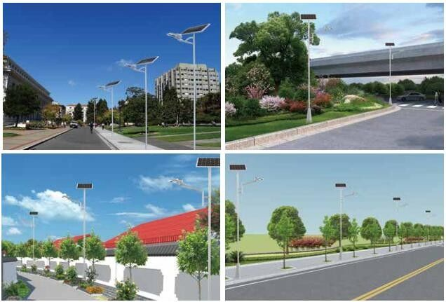 Outdoor Integrated Solar Led Street Light 6m - 10m Mounting Height Bright 20/30W