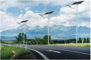 60 LED Solar Powered Street Lights Aluminum Alloy IP65 Waterproof 1700-3200lm
