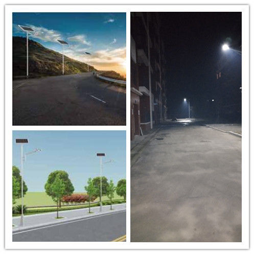 30/40 Watt Outdoor Led Parking Lot Lights Poly Crystalline Silicon Solar Panel